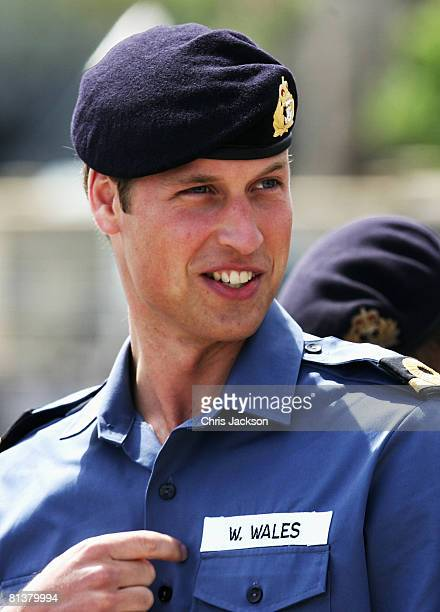 Prince William trains with the Royal Navy at Britannia Royal Naval college June 3 2008 in Dartmouth England The prince is spending the next two...