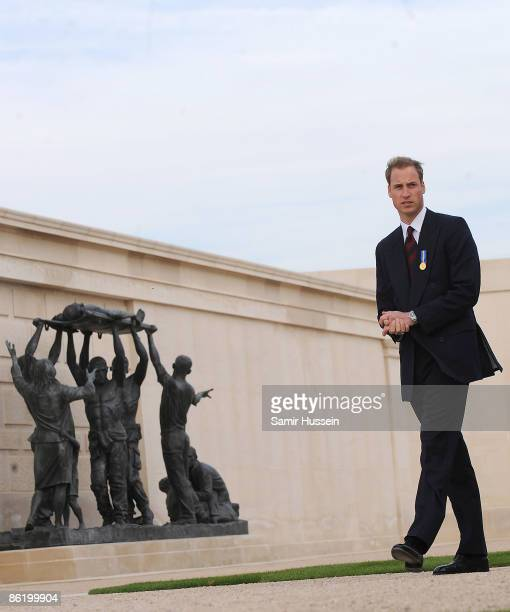 Prince William visits at the National Memorial Arboretum to launch the NMA Future Foundations Appeal on April 24, 2009 near Lichfield, England.