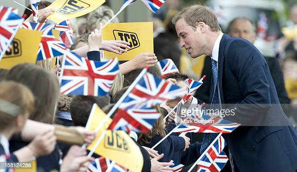 Prince William Visits The World Headquarters Of Jcb One Of The World'S Largest Manufacturers Of Construction Equipment To Mark The Production Of The...