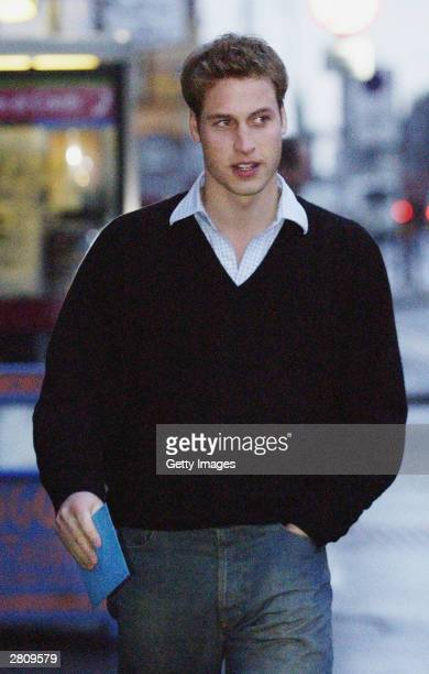 HRH Prince William walks to the Good News newsagents on December 14 2003 in St Andrews Scotland Now more than halfway through a fouryear degree at...