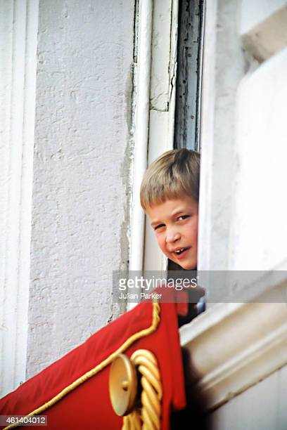 Prince William watches the Trooping The Colour parade at Horse Guards Parade on June 17 1989 in London United Kingdom