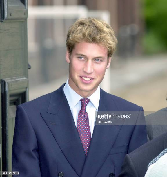 Prince William waves to the crowd at the Queen Mothers 101st birthday