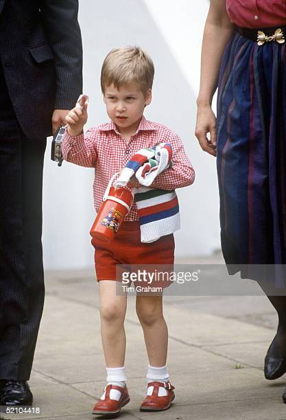 Prince William's First Day At Nursery School.