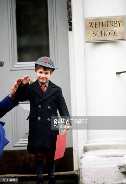 Prince William's First Day At Wetherby School