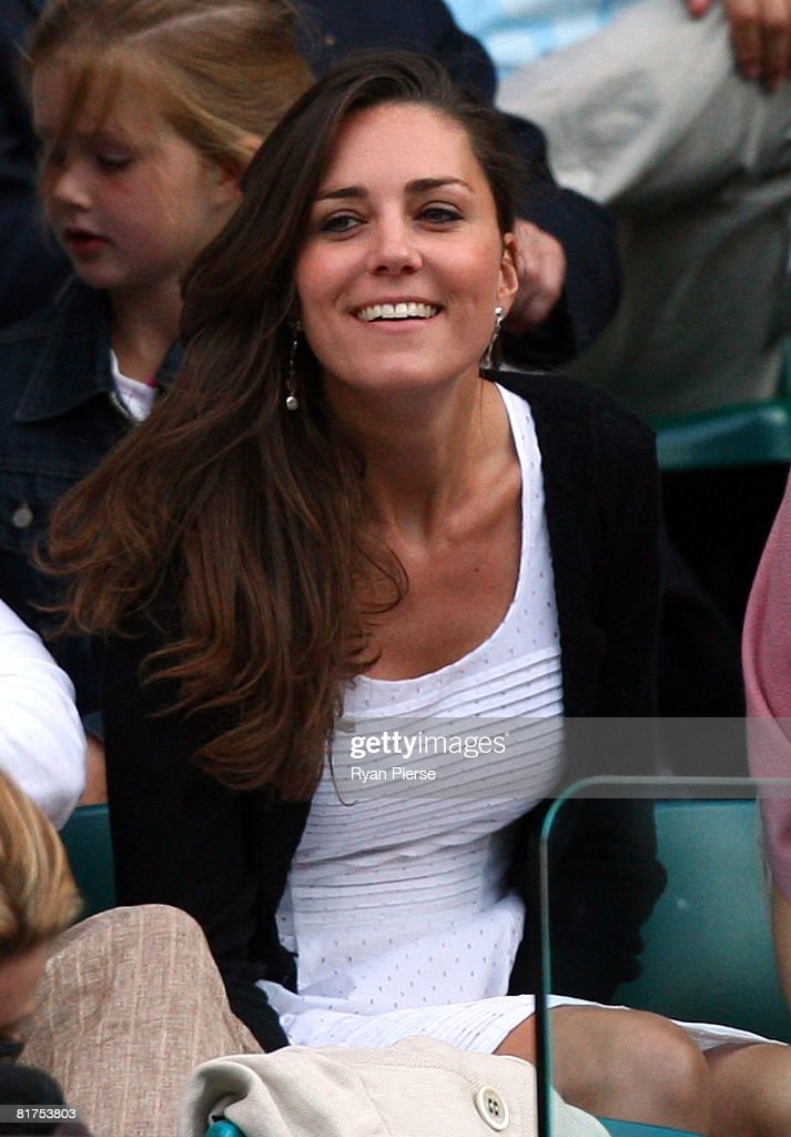 Prince William's girlfriend Kate Middleton attends day six of the Wimbledon Lawn Tennis Championships at the All England Lawn Tennis and Croquet Club on June 28, 2008 in London, England.