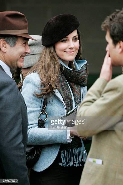 Prince William's girlfriend Kate Middleton attends the final day of Cheltenham Festival on March 16, 2007 in Gloucestershire, England.