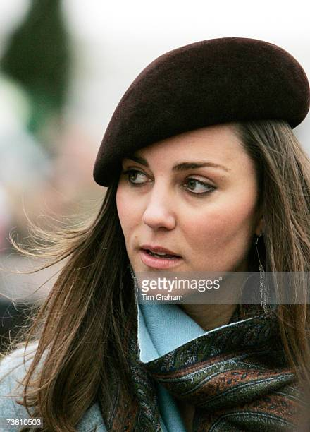 Prince William's girlfriend Kate Middleton attends the final day of Cheltenham Festival on March 16 2007 in Gloucestershire England