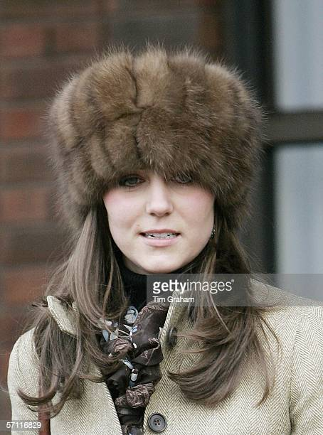 Prince William's girlfriend, Kate Middleton wears a Russian style fur hat to the final day of Cheltenham Races on March 17, 2006 in Cheltenham,...