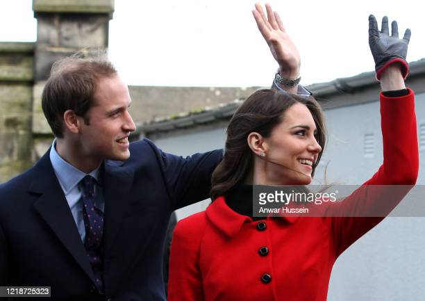 Prince Willliam and Kate Middleton return to the University of St Andrews to launch a fundraising campaign on February 25, 2011 in St Andrew's,...