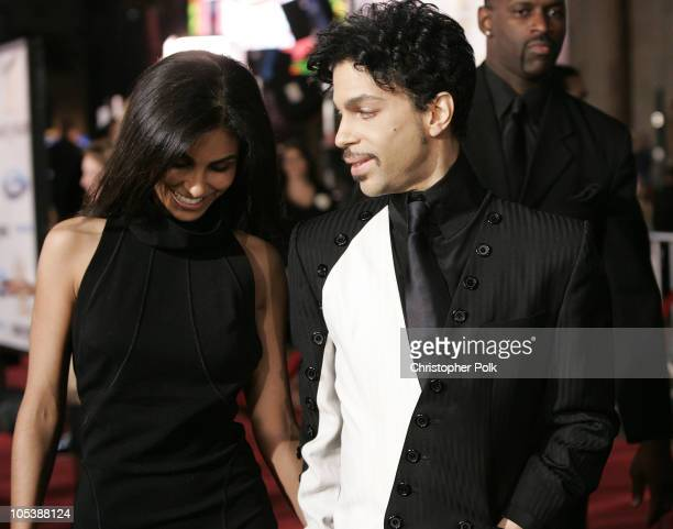 Prince with wife Manuela Testolini during Ocean's Twelve Los Angeles Premiere Arrivals at Grauman's Chineese Theater in Los Angeles California United...