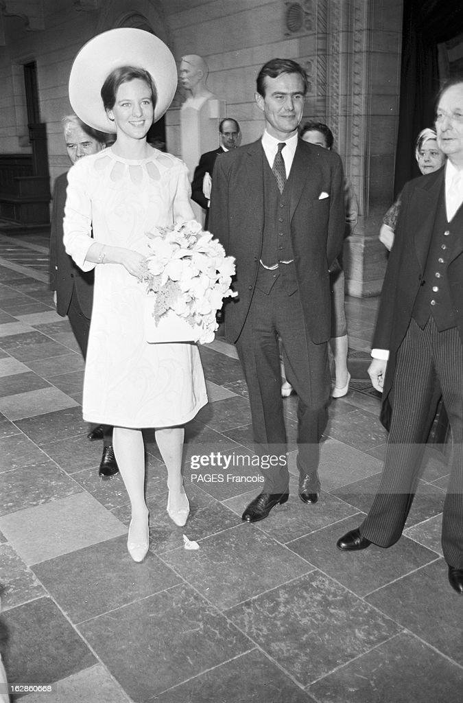 Princely Marriage Of Margrethe Of Denmark And Henri De Monpezat : News Photo