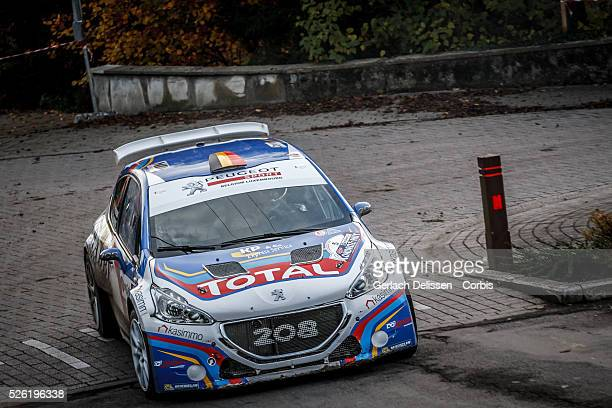 Princen and Kaspers in the Peugeot 208 T16 in action during the 42e Rallye Du CondrozHuy in Huy Belgium on November 8 2015