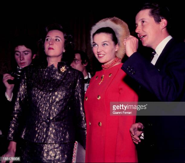 Princes Carlos of Bourbon Dos Sicilias and his wife Anne of Orleans with Pilar of Borbon sister of King Juan Carlos Madrid Castilla La Mancha Spain