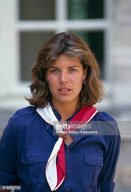 Princes Caroline of Monaco is in Marchais France with the Girl Scouts of Monaco