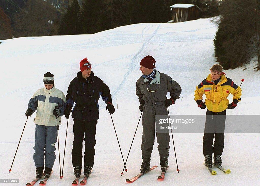 Charles, William, Harry And Zara : News Photo