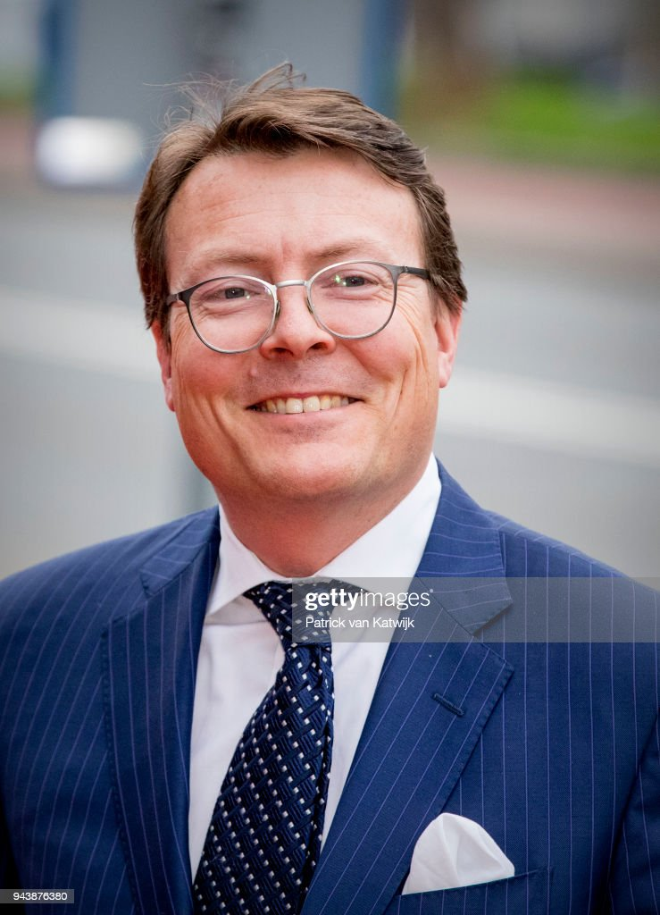 Princes Constantijn of The Netherlands arrive at the Oosterpoort for the Kingsday concert on April 9, 2018 in Groningen, Netherlands.