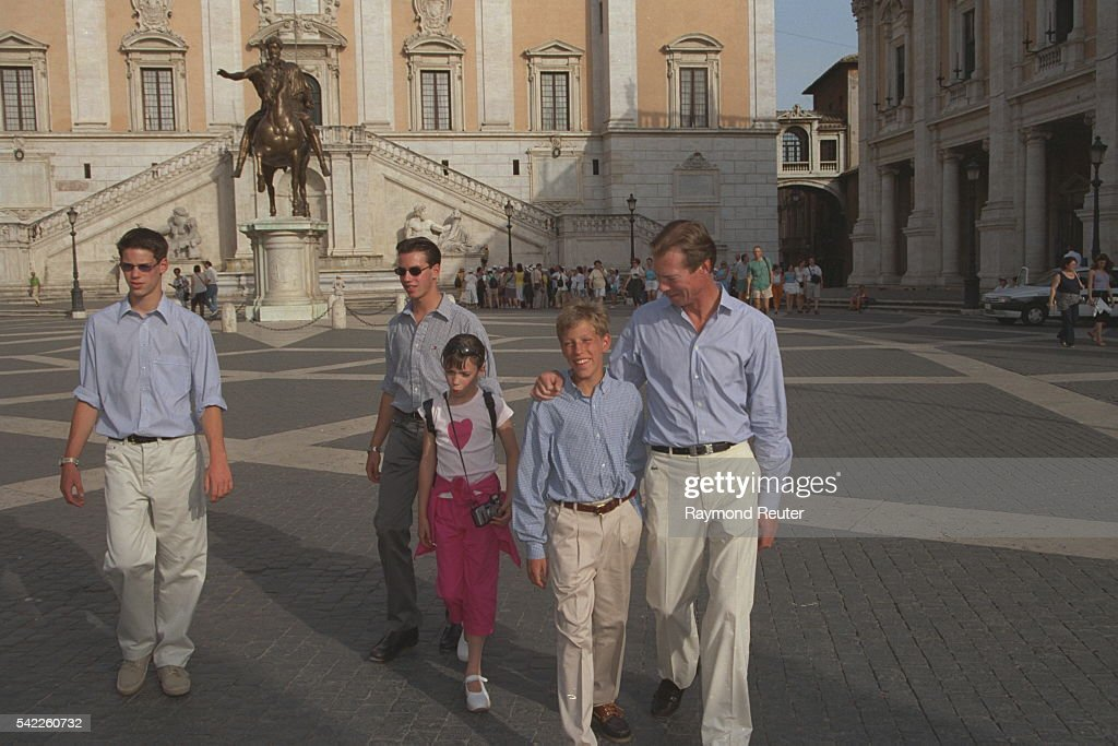 EXCLUSIVE: HENRI OF LUXEMBOURG IN ROME WITH FAMILY : News Photo