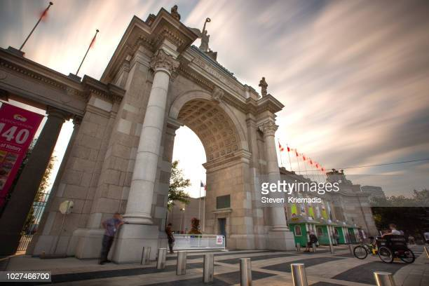 princes' gates at exhibition place in toronto - canadian national exhibition stock photos and pictures