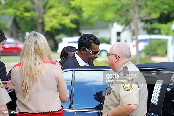 Prince's halfbrother Alfred Jackson walks out of the Carver County Courthouse on June 27 2016 in Chaska Minnesota Prince died on April 21 2016 at his...