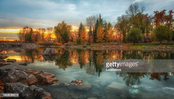 prince's island park - calgary stock pictures, royalty-free photos & images