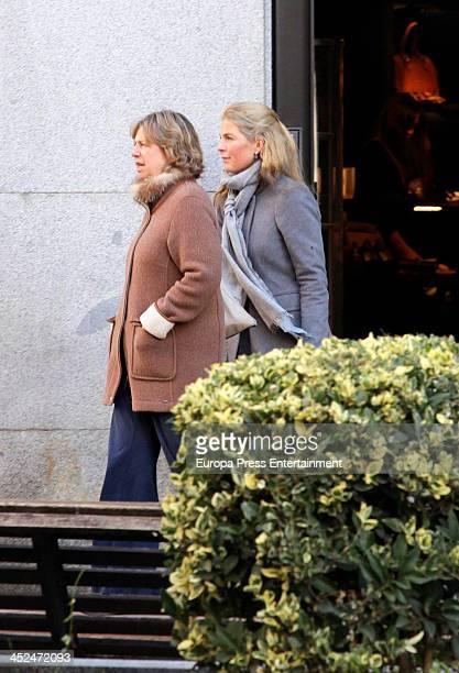 Princes Nora of Liechtenstein and her niece Princess Tatjana of Liechtenstein are seen on November 28 2013 in Madrid Spain