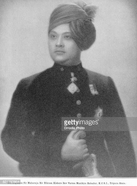 princes of india, his highness sir maharaja bir bikram kishore dev verma manikya bahadur, k.c.s.i, tripura - tripura state stock pictures, royalty-free photos & images