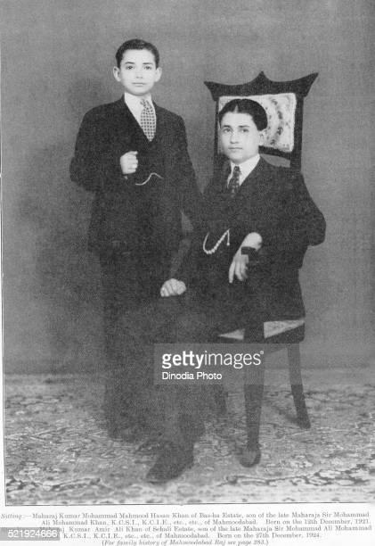 Princes of India Maharaj Kumar Mohammad Mehmood Hasan Khan of Bas ha and Maharaj Kumar Amir Ali Khan of Sehali, India