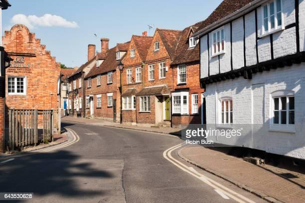 princes risborough, church street. england - バッキンガムシャー ストックフォトと画像