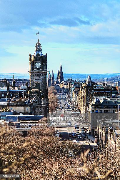 princes street against sky - dundee scotland stock pictures, royalty-free photos & images