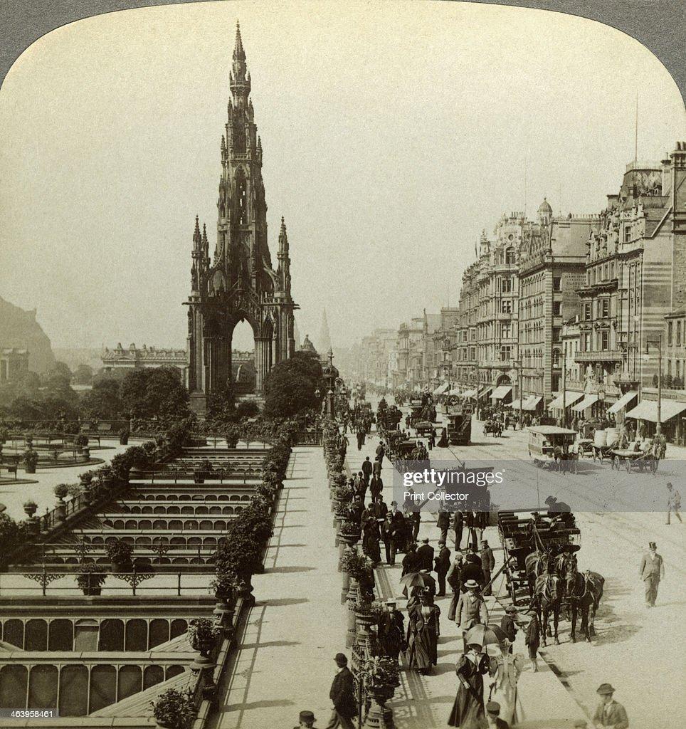 Princes Street and the Scott Monument, Edinburgh, Scotland, c late ...