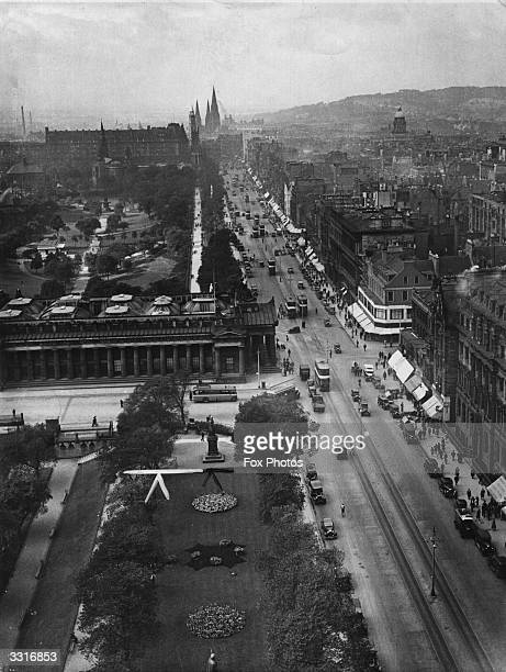 Princes Street Edinburgh Scotland Princes Street named after George III's sons was designed by James Craig who built hotels and shops on the north...