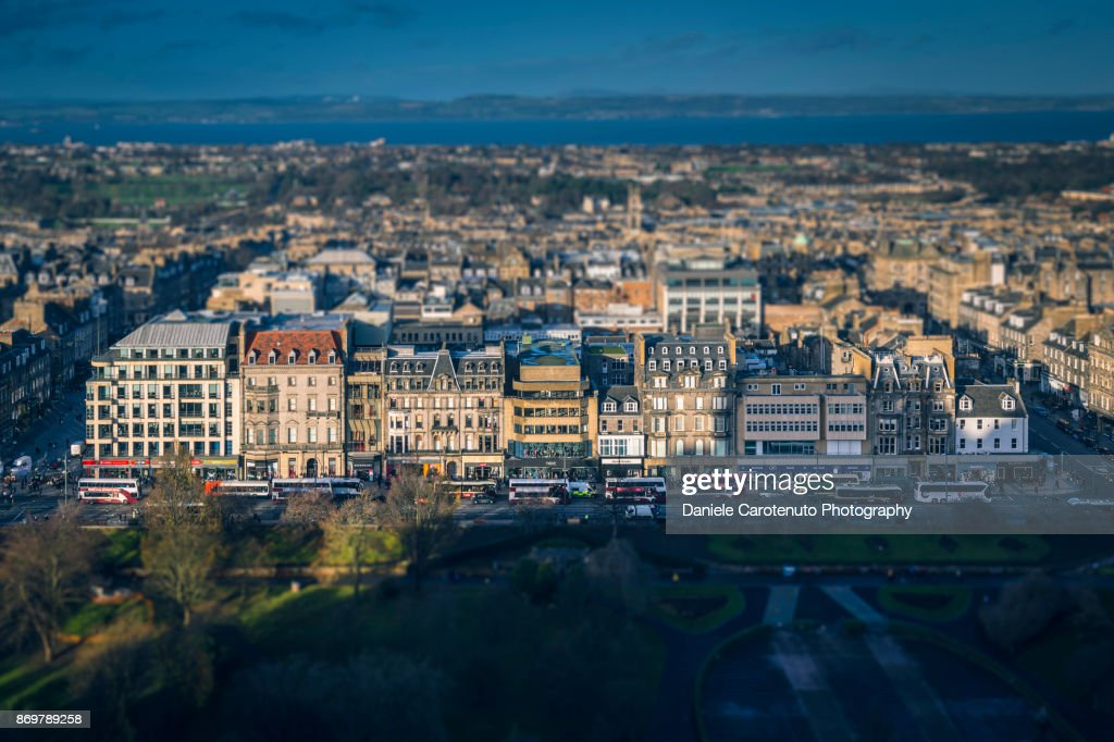Princes Street from above : Stock Photo