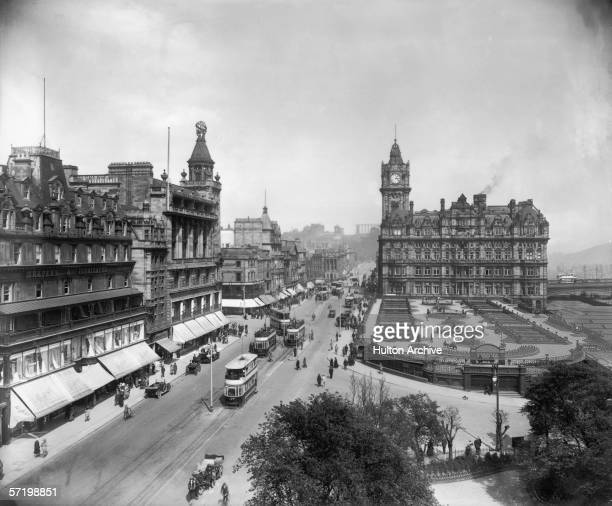 Princes Street in Edinburgh circa 1910 The North British Station Hotel stands on the right