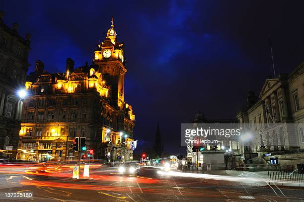 princes street - balmoral hotel stock photos and pictures