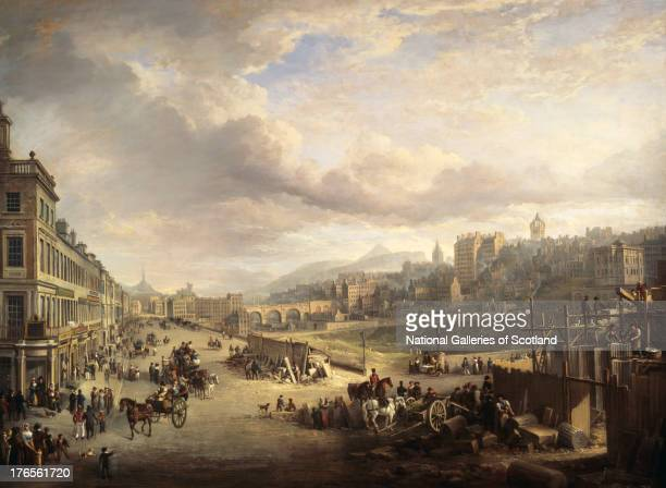 Princes Street with the Commencement of the Building of the Royal Institution by Alexander Nasmyth 1825 Oil on canvas