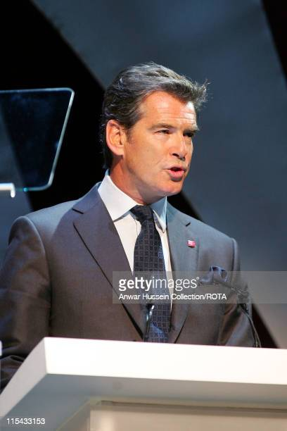 Prince's Trust Ambassador and actor Pierce Brosnan presents the Young Achiever Award