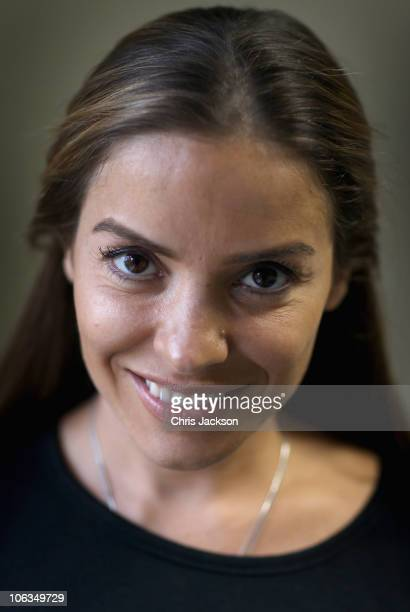 Prince's Trust Ambassador Elen Rives poses for a photograph as she helps unemployed young people on a Prince's Trust project in South London on...