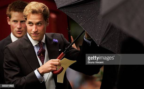 MBER 10 Princes William and Harry attend the wedding of The Duchess of Cornwalls son Tom Parker Bowles to magazine executive Sara Buys at St Nicholas...