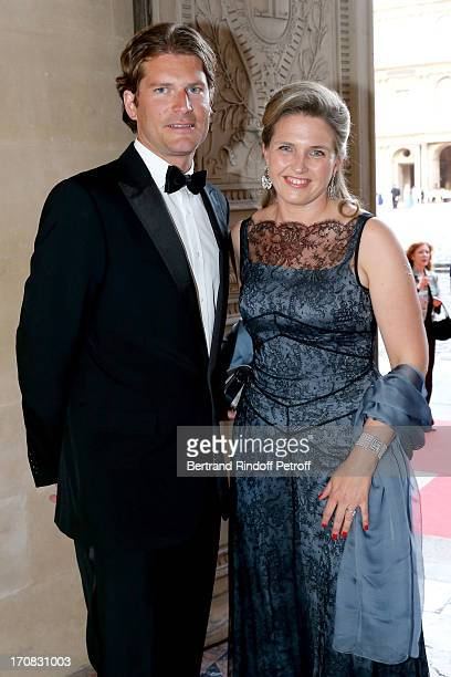 Princess Adelaide d'Orleans and Aymeric Sancerre attend 'Liaisons Au Louvre III' Charity Gala Dinner Hosted by American International Friends of Le...