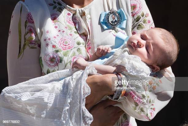 Princess Adrienne of Sweden attends the christening of Princess Adrienne of Sweden at Drottningholm Palace Chapel on June 8 2018 in Stockholm Sweden