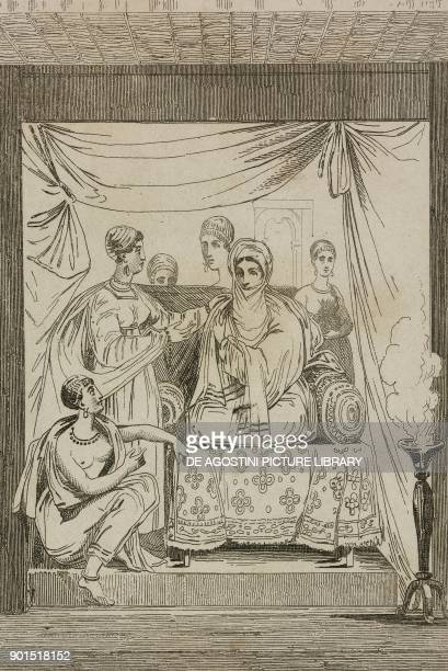 Princess Adwa Ethiopia engraving from Senegambie et Guinee by Tardieu Nubie by Cherubini Abyssinie by Desvergers L'Univers pittoresque published by...