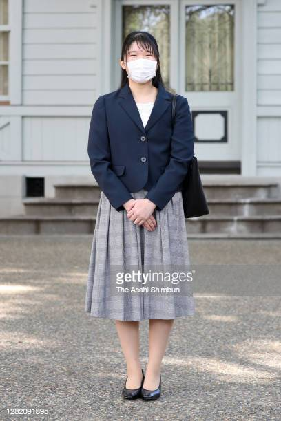 Princess Aiko speaks to media after attending Gakushuin University for the first time on October 24, 2020 in Tokyo, Japan. Due to the novel...