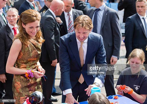 Princess Aimee of The Netherlands and Prince Floris of The Netherlands attend King's Day celebrations on April 26 2014 in Amstelveen Netherlands