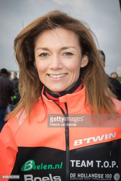 Princess Aimee of The Netherlands at the Hollandse 100 ice skating and cycling fund raising event at Flevonice on March 5 2017 in Biddinghuizen...