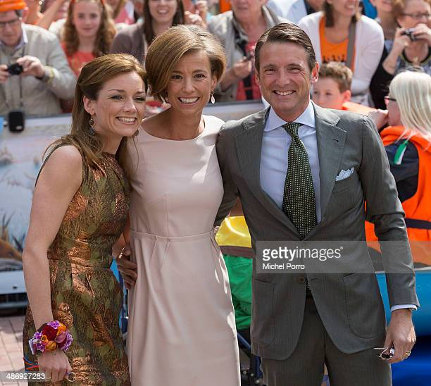 Princess Aimee of The Netherlands Princess Marilene of The Netherlands and Prince Maurits of The Netherlands attend King's Day on April 26 2014 in...