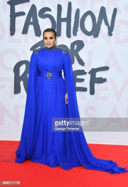 Princess Aisha Al Thani attends Fashion For Relief Cannes 2018 during the 71st annual Cannes Film Festival at Aeroport Cannes Mandelieu on May 13...