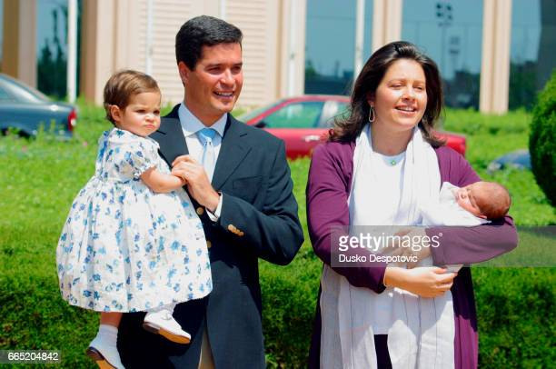 Princess Aleksia of Greece glows with happiness as she holds her second daughter Ana Maria in her arms Ana Maria was born two days before on May 16...
