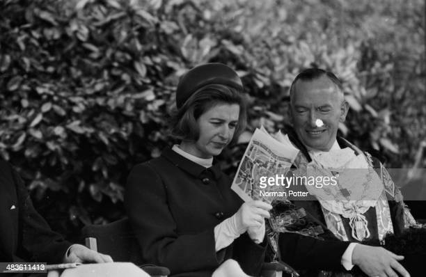 Princess Alexandra and Angus Ogilvy reading a map at a parade in Hyde Park London 19th May 1968