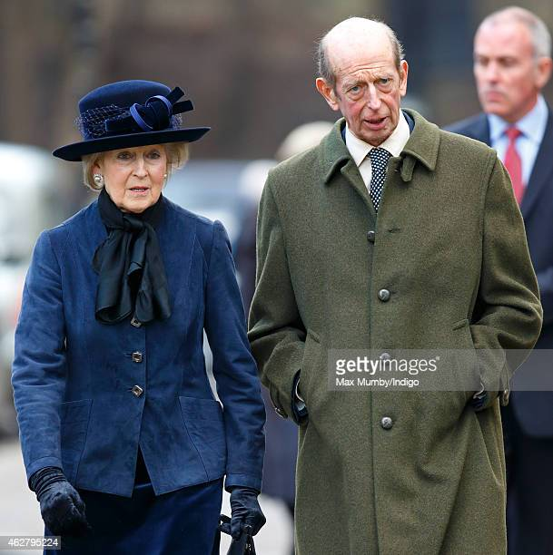Princess Alexandra and her brother Prince Edward, Duke of Kent attend a Service of Thanksgiving for the life of Sir Jocelyn Stevens at St Paul's...