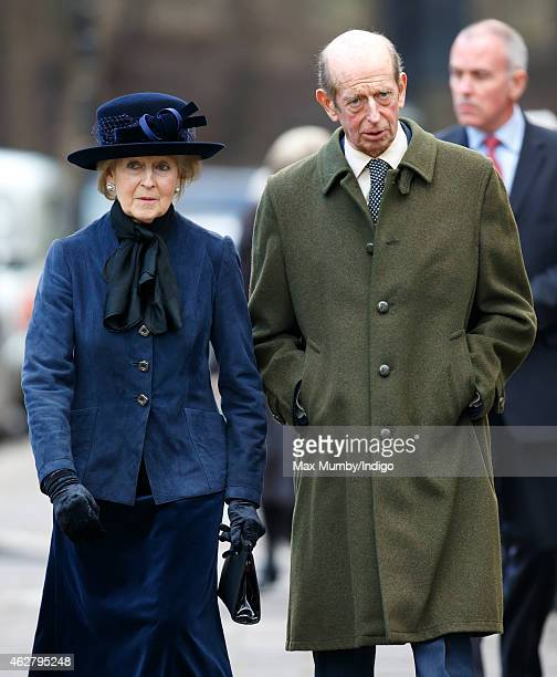 Princess Alexandra and her brother Prince Edward Duke of Kent attend a Service of Thanksgiving for the life of Sir Jocelyn Stevens at St Paul's...